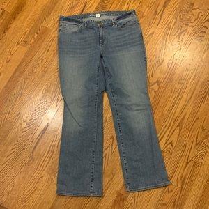 EDDIE BAUER Curvy Boot-Cut Jeans,  Size 16